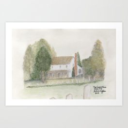 The Old Cooper Home Art Print