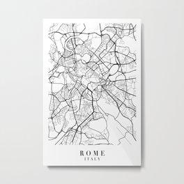 Rome Italy Street Map Minimal Metal Print