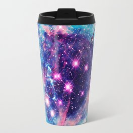 Trendy Pastel Pink Blue Nebula Girly Stars Galaxy Travel Mug
