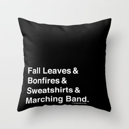 Fall Leaves & Marching Band Throw Pillow