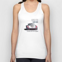 moby dick Tank Tops featuring Porsche 935/78 Moby Dick by vsixdesign