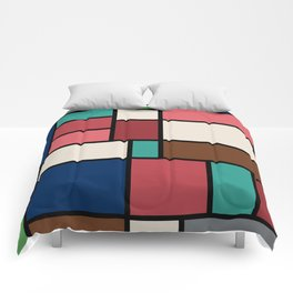 The Colors of / Mondrian Series - Spirited Away - Miyazaki Comforters