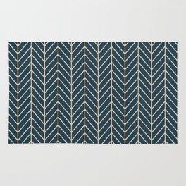 Lines Blue Background Rug