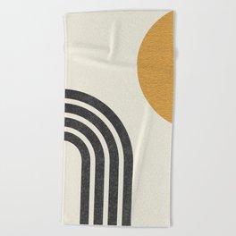 Mid century modern Sun & Rainbow Beach Towel
