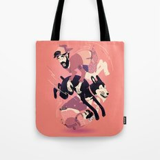 Over, Under, and Through Tote Bag