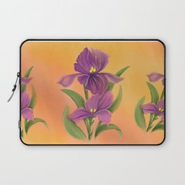 Purple Iris in warm sunshine Laptop Sleeve