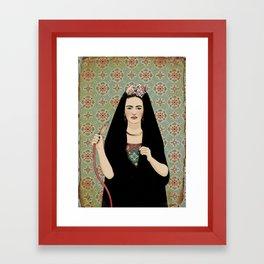 Frida & the Shisha Framed Art Print