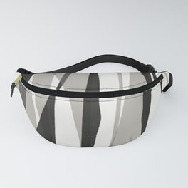 Moon Lit Ripples - Black & White Minimalism Fanny Pack