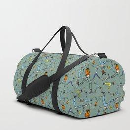 Upside down pattern (in green) Duffle Bag