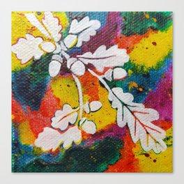 Leaves on the World Tree: Bulgarian Granit Oak Canvas Print