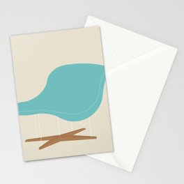 Blue La Chaise Chair by Charles & Ray Eames Stationery Cards