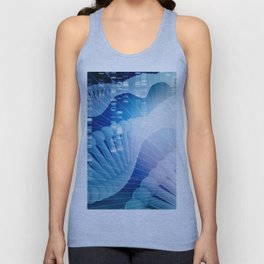 DNA Molecule Helix Science Abstract Background Art Unisex Tank Top