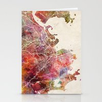 rio de janeiro Stationery Cards featuring Rio de Janeiro by MapMapMaps.Watercolors