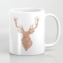 Sparkling reindeer blush gold Coffee Mug
