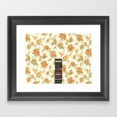 Atari & Flower Wallpaper Framed Art Print
