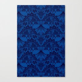 Stegosaurus Lace - Blue Canvas Print