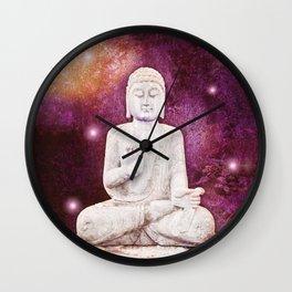 BUDDHA   Red Lights Wall Clock