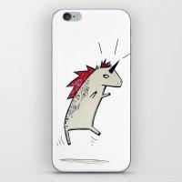 punk rock iPhone & iPod Skins featuring Punk Rock Unicorn ! by Justine Lecouffe
