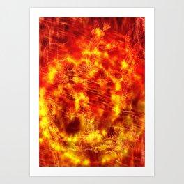Fire of the Deep Sea. Art Print