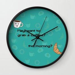 A Coffee Date Wall Clock
