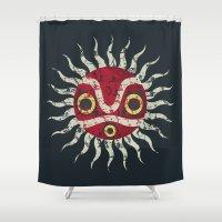 mononoke Shower Curtains featuring Mononoke Mask by Maira Artwork