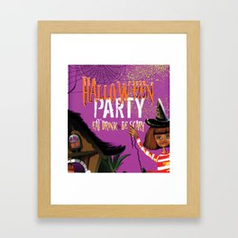 Eat Drink & Be Scary Party Decor Framed Art Print