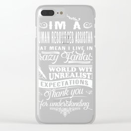 Human Resources Assistant Clear iPhone Case