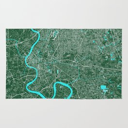 Bangkok, Thailand street map Rug