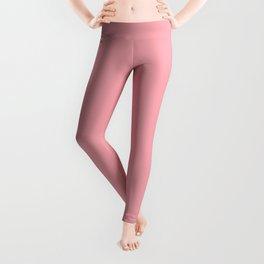 FLAMINGO PINK pastel solid color Leggings