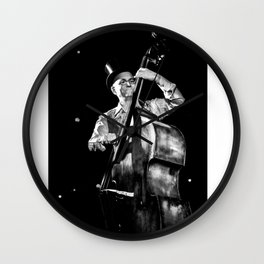 The old contrabass player Wall Clock