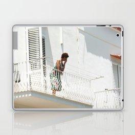 Lady on Balcony Laptop & iPad Skin