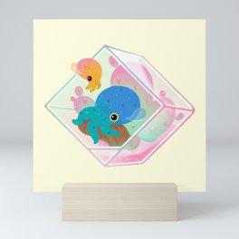 Ocean terrarium - Bobtail squids Mini Art Print