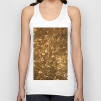 gold glitter Tank Tops featuring Gold Glitter 2484 by Cecilie Karoline