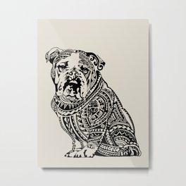 Polynesian English Bulldog Metal Print