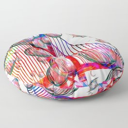 Golden Gate Bubbles Floor Pillow