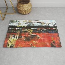 Jacksonville Orange Abstract Painting Rug