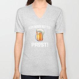 Beer Please German Ein Bier, Bitte! Prost! German Pride Unisex V-Neck