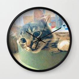 Curious Kitty Wall Clock