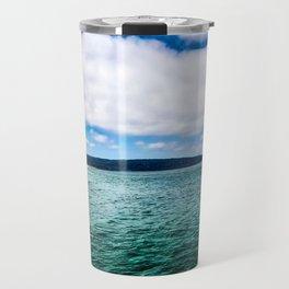 Blue Skies Ocean Waves Travel Mug
