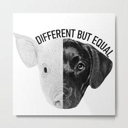 Different but equal b&w Metal Print