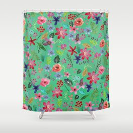 The earth laughs in flowers & green Shower Curtain
