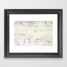 the writing on the wall ...  Framed Art Print