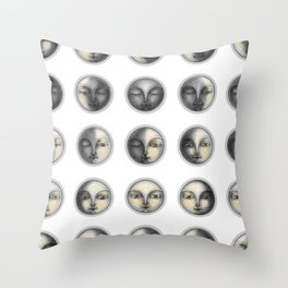 moon phases and romanticism Throw Pillow