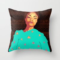 girly Throw Pillows featuring Girly by UnifiedGlory