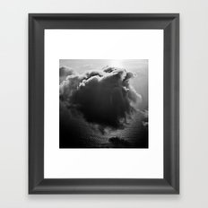 Single drifting cloud Framed Art Print