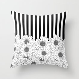 Daisy Stripe Throw Pillow