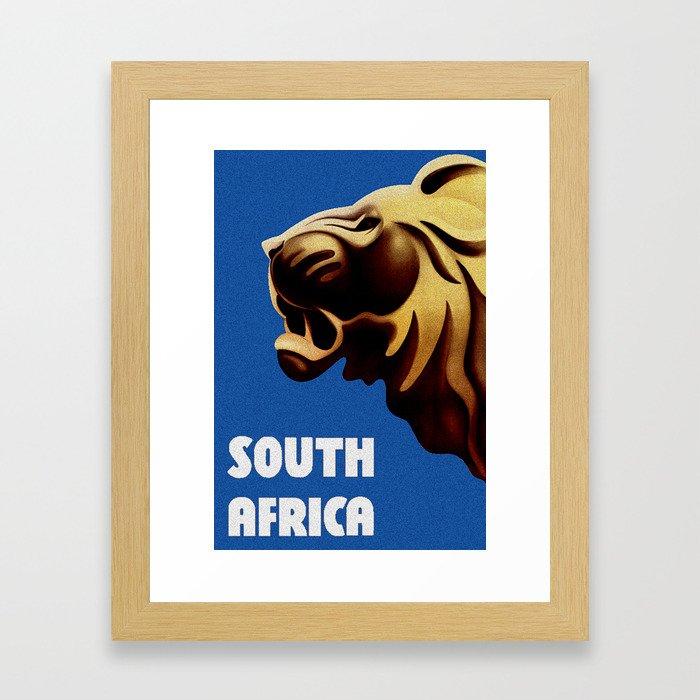 South Africa Travel - Lion Framed Art Print
