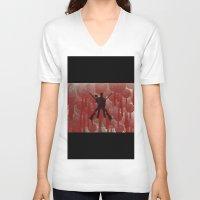 cowboy V-neck T-shirts featuring cowboy by Saleem007
