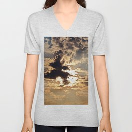 Cloud Shapes Unisex V-Neck