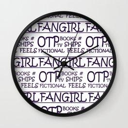 Fangirl Wall Clock